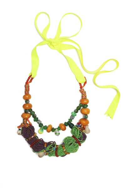 Guidemore Green Multi Beaded Necklace