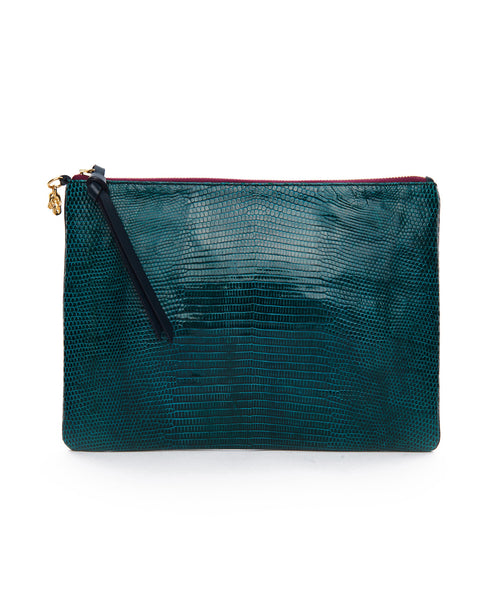 Green All Night All Day Zip Clutch