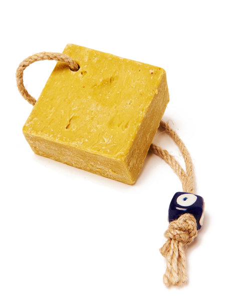 Blue Olive Oil Evil Eye Square Soap