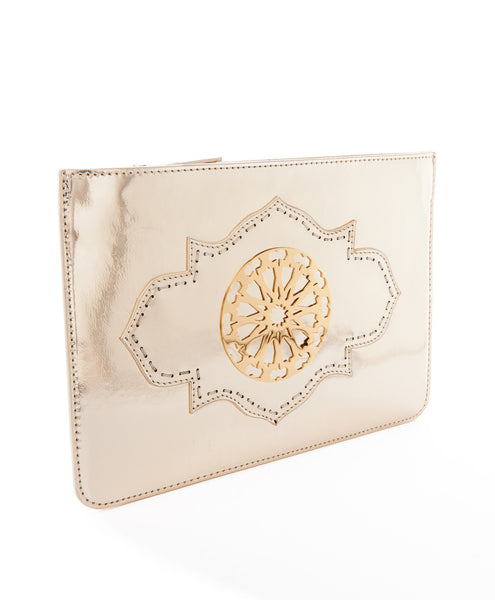 Metallic Gold Melo Pochette