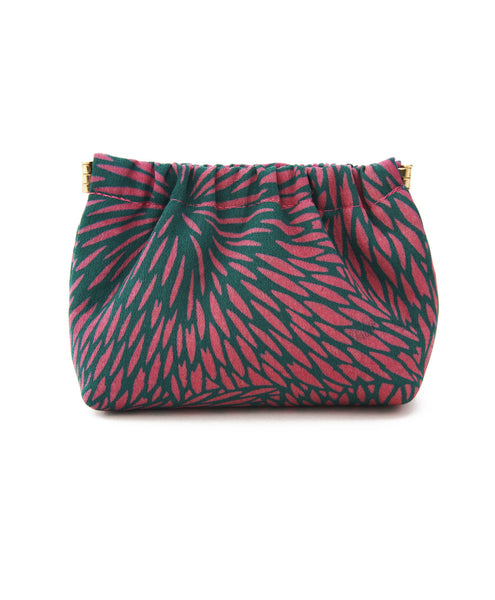 Pink And Green Kimono Starburst Print Petite Dumpling Bag