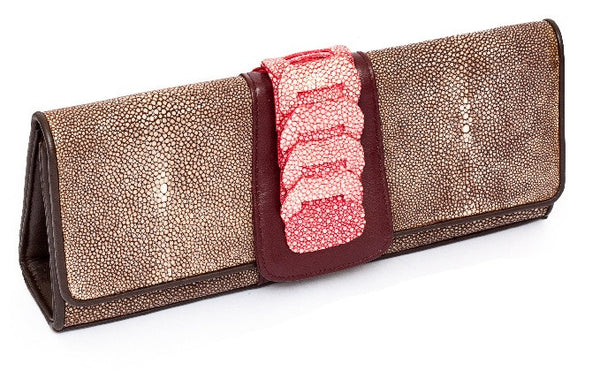 Red Stingray Foldover London Clutch