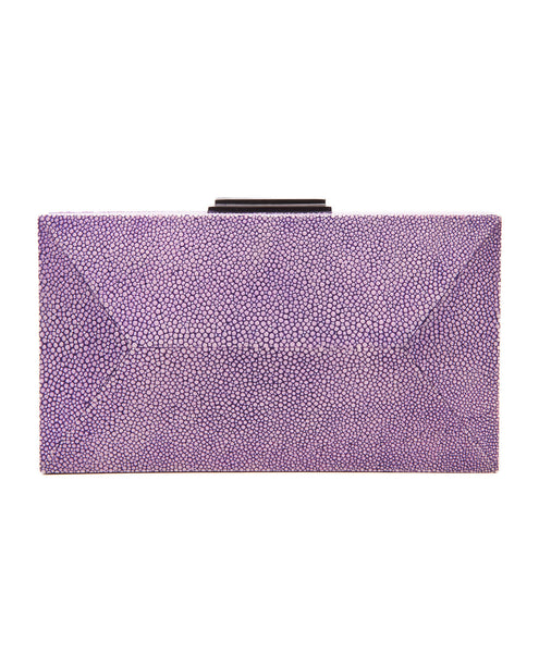 Purple Stingray Rectangle Diamond Clutch