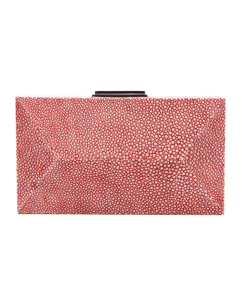 Red Stingray Rectangle Diamond Clutch