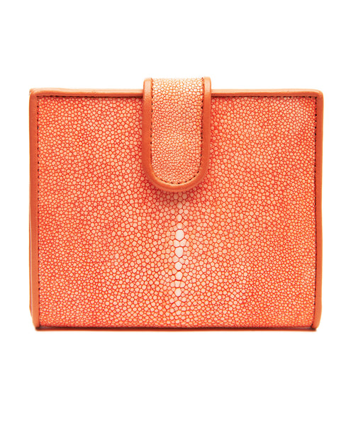 Orange Stingray Foldover Wallet