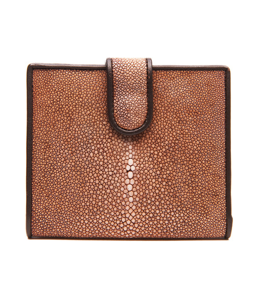 Brown Stingray Foldover Wallet
