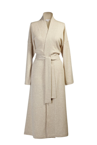 Cream Cashmere Longsleeve Long Robe