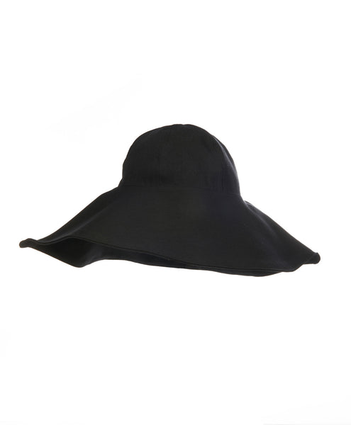 Black Linen Lip Hat
