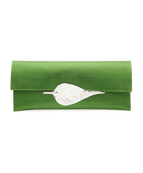 Green Silk Clutch