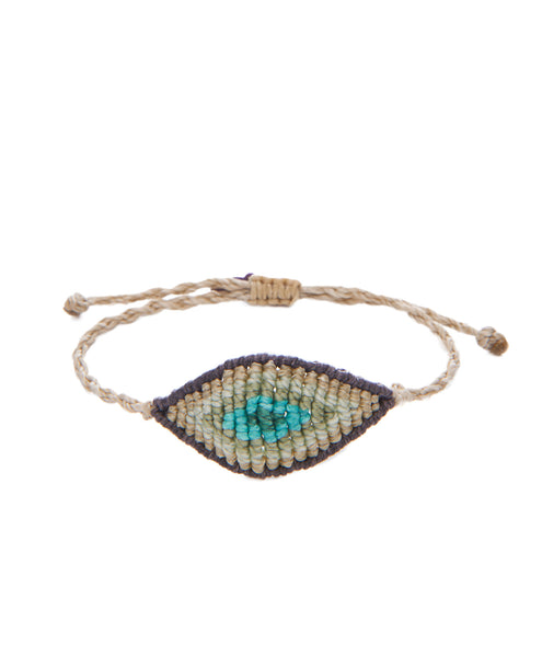 TATIANA CHOREMI, Grey and Teal All Seeing Eye Bracelet