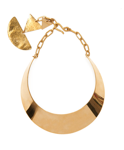 Recycled Brass Shakah Collar Necklace