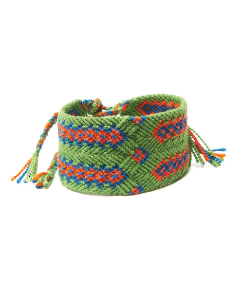 Lime Green Cotton San Andres Short Friendship Bracelet
