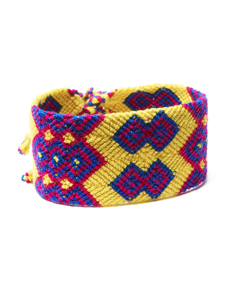 Yellow Cotton San Andres Long Friendship Bracelet