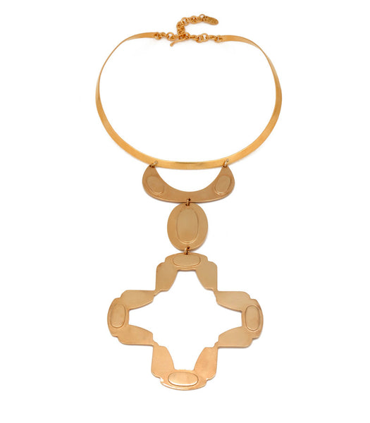 Golden Brass Gloria Necklace