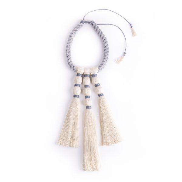 Tres Brujas Raw Cotton Necklace