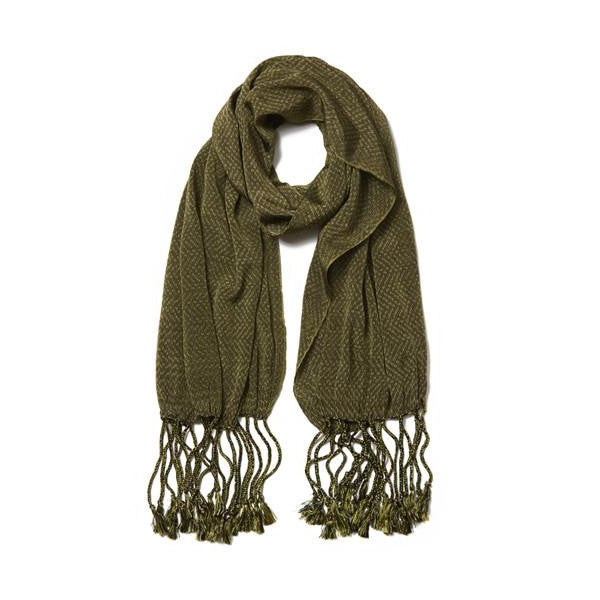 Green Cotton Rebozo la Piedad Scarf