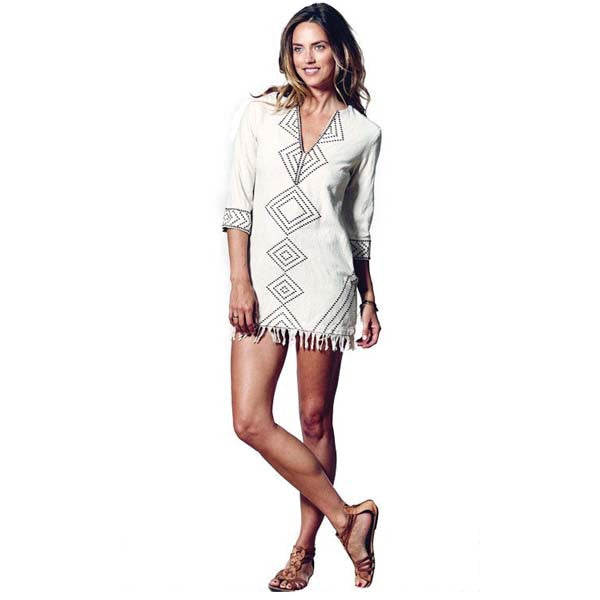 Ivory Aya Mini Tunic Dress