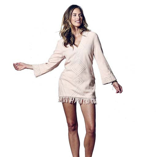 Dust Pink Aya Mini Tunic Dress