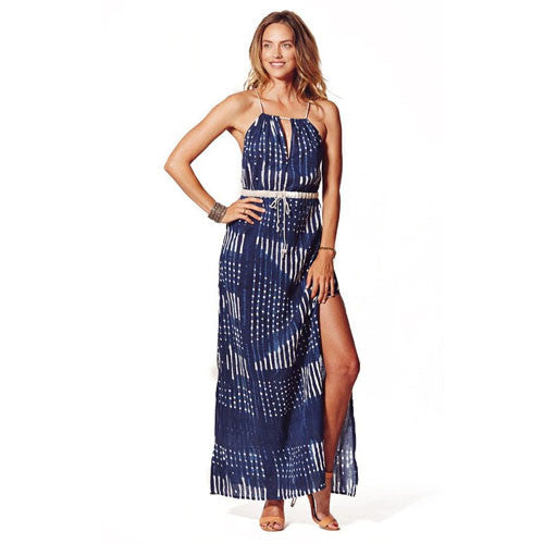 Indigo Cotton Rosine Maxi Dress