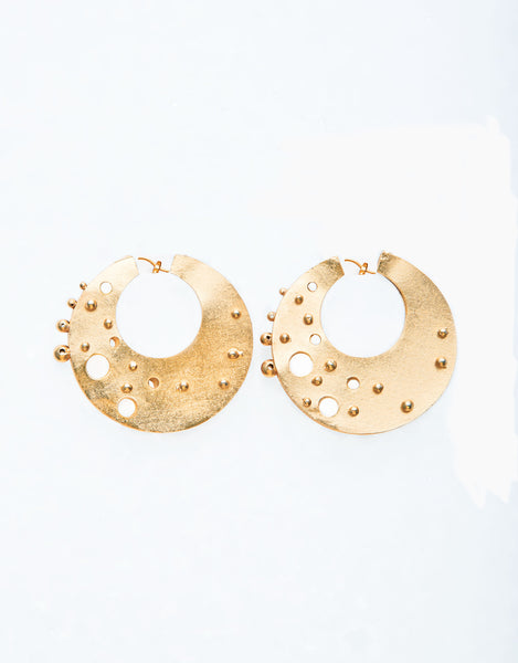 24K Gold-Plated Brass Small Kate  Earrings