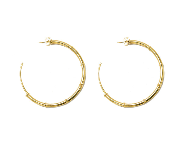 Gold Plated Brass Turka Hoop Earrings