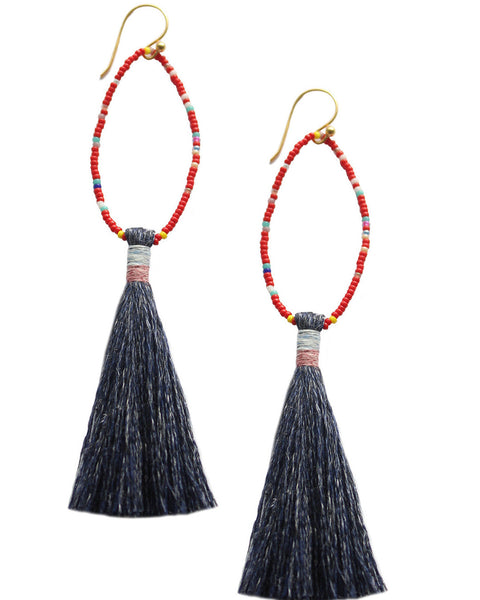 Denim Lupe Earrings