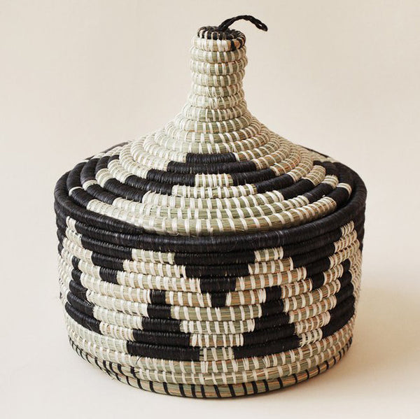 INDEGO AFRICA, Black Marrakech Basket