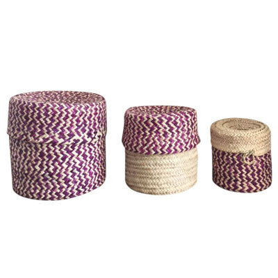 Handwoven Nested Baskets - Set of 3