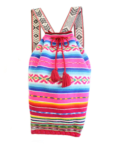 Bright Pink Medio Mochila Bag