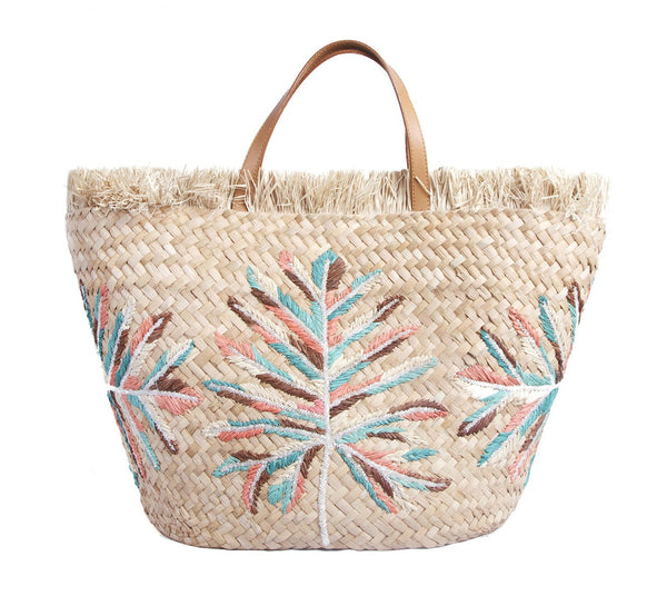 Natural Mirador Straw Tote
