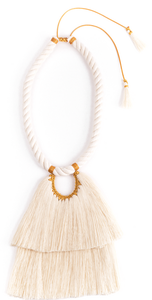Cascada Larga Necklace-Mustard