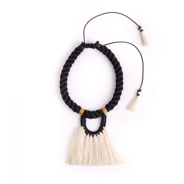 Black & Yellow Mustard Fantasma Sencillo Necklace
