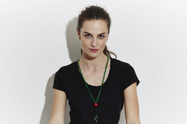 Japa Mala Jade Necklace