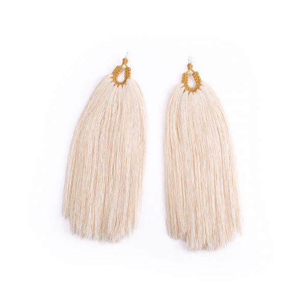 Orejas de Conejo Raw Cotton Earrings