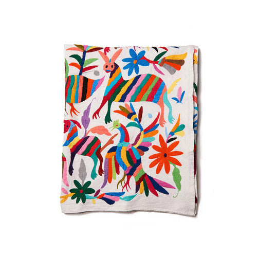 Multi Otomi Cotton Tenago Table Cloth