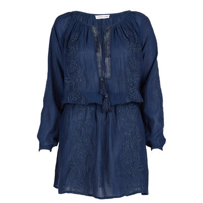 Navy Cotton Romana Tunic