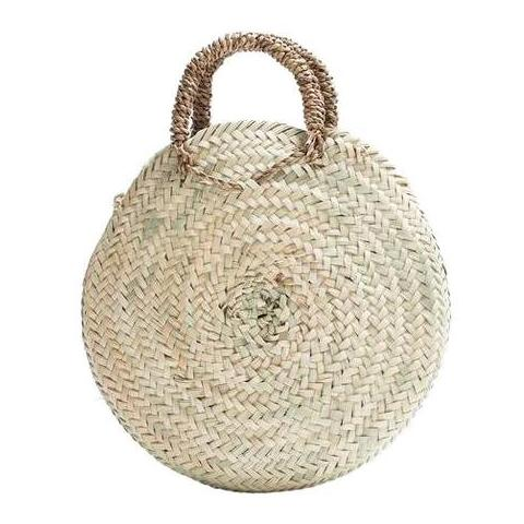 Small Natural Palm Puglia Oval Shopper Basket