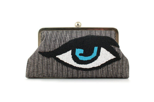 Classic Eye Monochrome Clutch