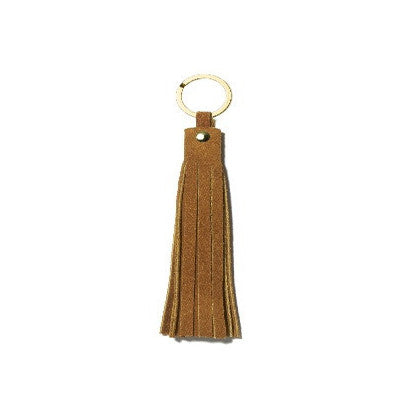 Sand Suede Fez Key Ring