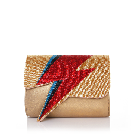Bowie Red On Gold Clutch