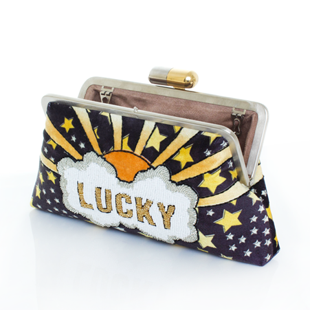Lucky Gold Classic Clutch