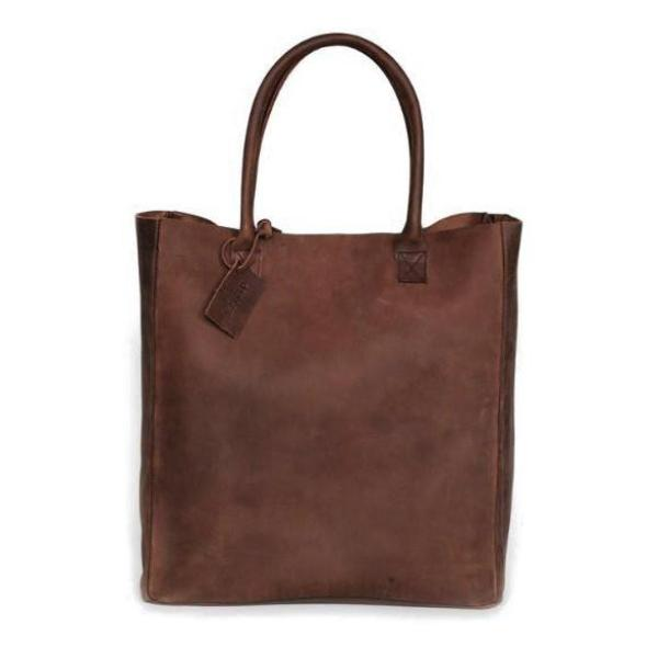 Brown Nubuck Leather Carryall
