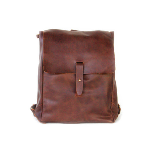 Brown Nubuck Leather Backpack