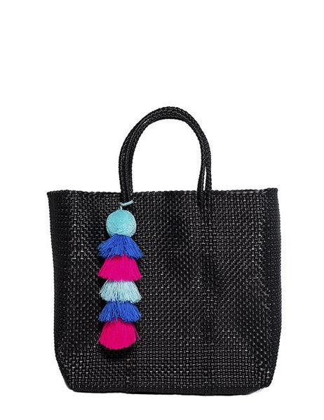 Black Stella Medium Short Handle Tote