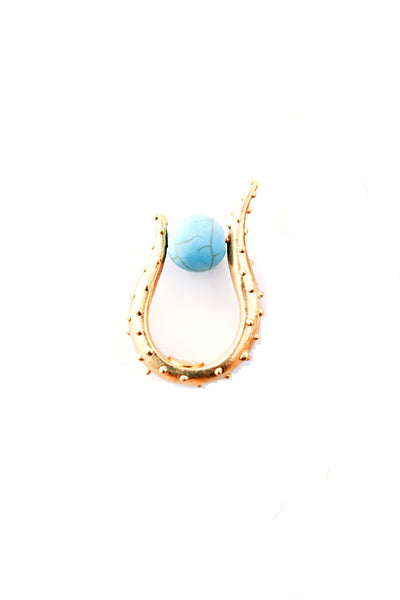 Turquoise 24K Gold Plated Brass Suzy Ring