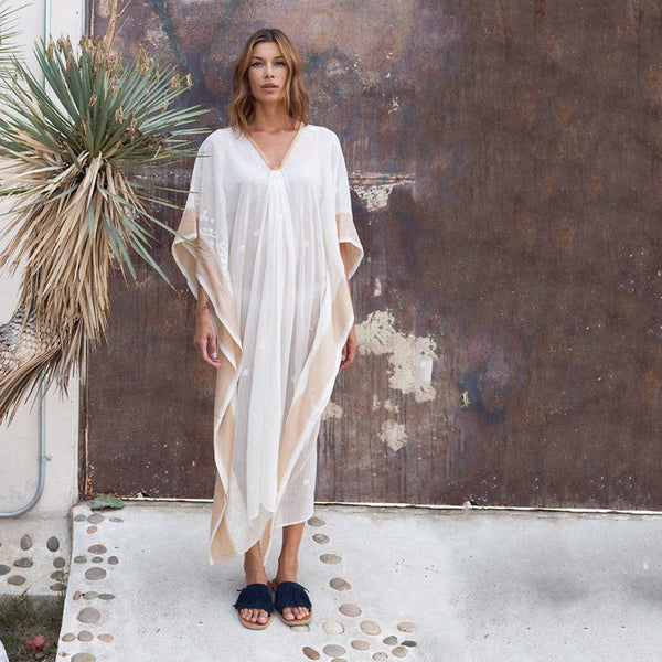TWO, Long Caftan with Silk Border