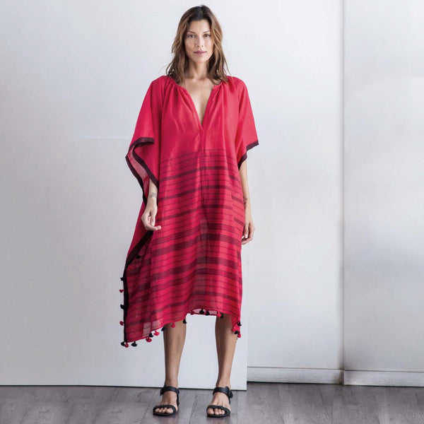 TWO, Red Pom Pom Caftan