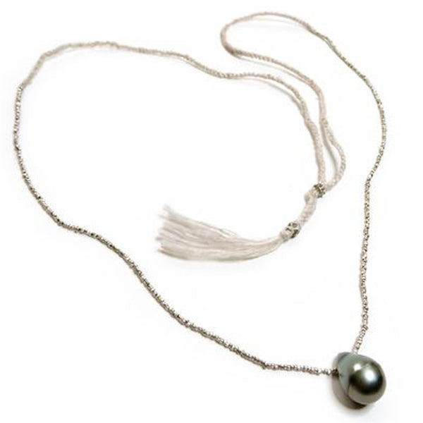 ISHI, White Seda Largo Pearl Barroque Necklace