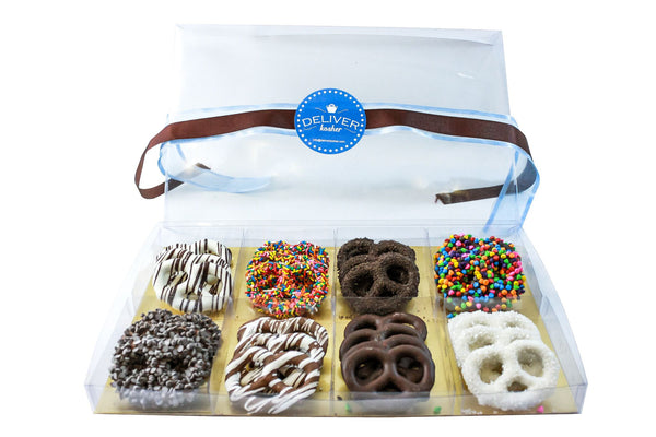 Gourmet Chocolate Covered Pretzel Gift Box, Assorted