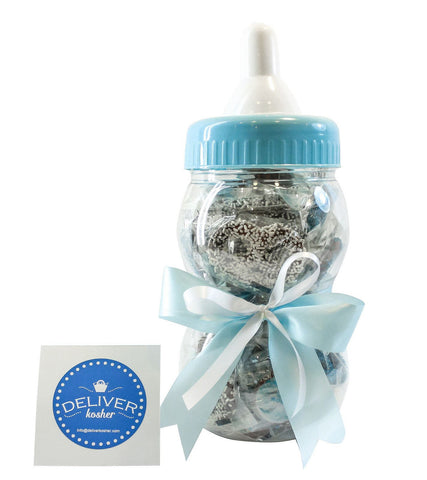 Gourmet Chocolate Covered Pretzel Baby Bottle - Baby Boy - Milk Chocolate